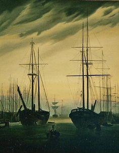 Vue du port Caspar David Friedrich