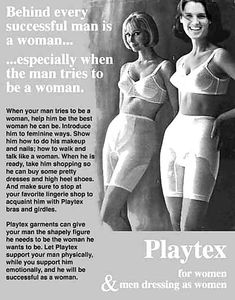 Thanks to my Mom clothes  I was able to wear her Playtex bra and her Girdle plus her slips heels jewelry make up wig dresses thank you mom for letting me use your clothes