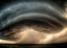 The belly of a super cell thunderstorm.  Scary and beautiful all at the same time.  (Picture: SEAN HEAVEY / BARCROFT MEDIA)