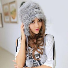 Chic Faux Fur and Hairball Pendant Decorated Solid Color Bomber Hat For  Women d2648d1c6e23