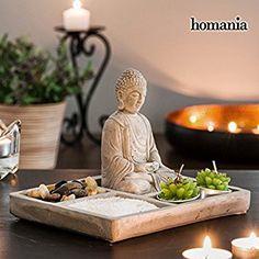 Homania Decorative Zen Garden with Buddha Meditation Corner, Meditation Altar, Spiritual Meditation, Meditation Space, Jardin Zen Interior, Buda Zen, Urban Garden Design, Mini Zen Garden, Buddha Decor