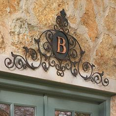 Monogrammed Overdoor Plaque - Give any doorway an air of sophistication with this elaborate plaque