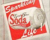"""♥Serviette papier Déco cuisine/pub/vintage- """"Soda"""" USA : Serviettage, Décopatch par comptoir-p-titsanges sur ALittleMercerie"""