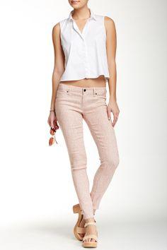 Genetic Denim Baby Pink Skinny Jean