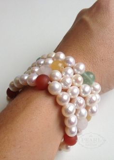 Ofashion Artificial Pearls Cable Wire Cuff Braclet 8mm