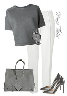 """""""#92"""" by styledbymarietheres ❤ liked on Polyvore featuring L.K.Bennett, T By Alexander Wang, Gianvito Rossi, MICHAEL Michael Kors and Balenciaga"""