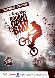 ARTAO_ROUBAIX3 Bmx, Poster Design Inspiration, Sport Inspiration, Creative Advertising, Advertising Design, Sports Graphic Design, Sports Flyer, Sports Graphics, Word Design