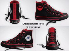 I want- https://www.etsy.com/listing/119535170/custom-star-wars-rebel-alliance-converse