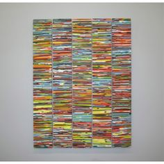 Linearscape - five piece wall panel in kilnformed glass by Brenden Scott French