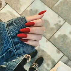 A manicure is a cosmetic elegance therapy for the finger nails and hands. A manicure could deal with just the hands, just the nails, or Gorgeous Nails, Pretty Nails, Cute Red Nails, Minimalist Nails, Cute Acrylic Nails, Nagel Gel, French Nails, Nail Arts, Long Nails