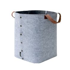 Storage Bag - Felt with Poppers - Grey