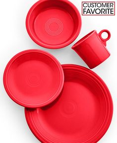 Fiesta 4-Piece Place Setting - Fiesta Dinnerware - Dining & Entertaining - Macy's *want this color*
