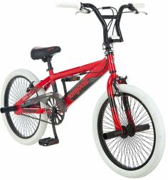 "Mongoose Child Gavel Bicycle by Mongoose. $137.57. Amazon.com                Strong and fast, this 20-inch BMX bike by Mongoose is sure to keep up with any active boy whether he's tackling the trails or cruising around the neighborhood. The Gavel features a sleek, silver alloy frame and tough, 48-spoke alloy wheels that perform reliably, even on wet surfaces. Other freestyle features include four axle pegs, ""knee-saver"" handlebars, and an SST handlebar rotor for handlebar s..."