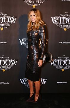 Elle Macpherson attends the Veuve Clicquot Widow Series 'A Beautiful Darkness' curated by Nick Knight and SHOWstudio on October 28 2015 in London...