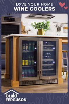 Do you favor red or white? Wine coolers keep your favorite vintage at the perfect temp to serve with dinner, or give an impromptu toast. Basement Bar Designs, Basement Ideas, Travel Bedroom, Basement Inspiration, Men Cave, Wine Coolers, Shelving Ideas, Love Your Home, Bar Ideas