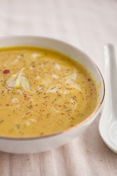 Creamy Spiced Cauliflower Soup - substitute the coconut milk to make it Atkins friendly