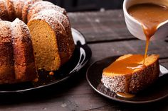 I don't like pumpkin pie - it looks like baby poop to me - so everyone should make this: Pumpkin Spice Bundt Cake with Salted Caramel Sauce