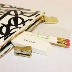 One of my favorite things!  Kate Spade Pencil Pouch Set - Literary
