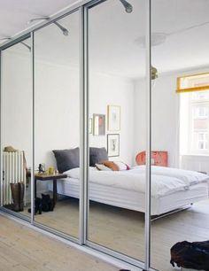 Birgitte Rabens Home Future House Built In Wardrobe Bedroom Wardrobe Design Bedroom, Closet Bedroom, Dream Bedroom, Bedroom Decor, Master Bedroom, Sliding Mirror Wardrobe Doors, Sliding Doors, Mirror Door, Beautiful Sofas