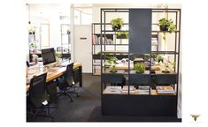 Office Design, steel and timber Space Furniture, Wood Furniture, Office Interiors, Shelving, Corner Desk, Office Desks, Office Spaces, Modern, Creative