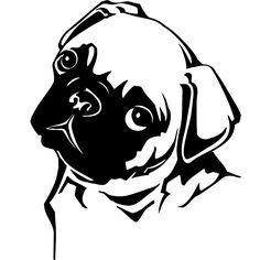 Pug outline - Pugs