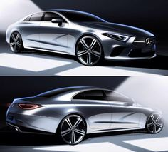 2018 Mercedes-Benz CLS official sketches by Balazs Filczer Car Design Sketch, Car Sketch, Design Cars, Auto Design, Bling Car Accessories, Automobile, Mercedes Cls, Car Drawings, Car Painting