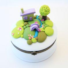 * au pays des rêves *    décor réalisé entièrement en pâte polymère  plus d'info sur mon site perso www.celinemosaik.com