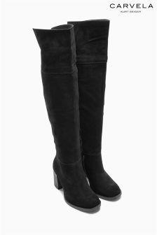 47cc91da6be Carvela Wish Black Heeled Knee High Boot