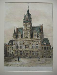 Hotel de Ville, Compiegne, France, EUR, 1888, G. Garen