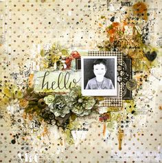 Scraps Of Elegance scrapbook kits- December Ever True Kit - A gorgeous mixed media layout by Lisa Griffith
