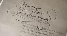 CALLIGRAPHIE ~ Julien CHAZAL ~ calligraphe Paris