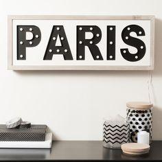 Tableau lumineux à led PARIS | Maisons du Monde