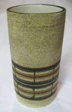 Troika Pottery Cylindrical Vase