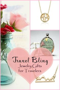 """Jewelry is always a good idea! Why not get travel-themed """"bling"""" for the traveler in your life?"""