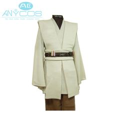 Star Wars Kenobi Jedi TUNIC Adult Robe Costume Custom-made Movie Cosplay Costume For Men Halloween Party Free Shipping