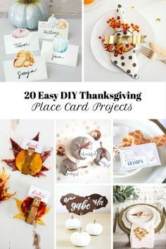 20 Thanksgiving Place Card Ideas and Free Printables  #thanksgivingtable #thanksgivingprintables #freeprintables