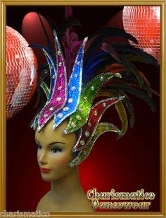 Charismatico Rainbow Gay Pride Circus Feather Showgirl Headdress Headpiece | eBay