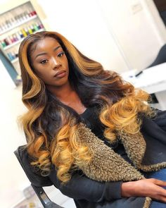 Ombre Full Lace Wigs With Baby Hair Glueless Lace Wigs Pre Plucked Hairline Baddie Hairstyles, My Hairstyle, Pretty Hairstyles, Black Hairstyles, Long Weave Hairstyles, Drawing Hairstyles, Teen Hairstyles, Casual Hairstyles, Vintage Hairstyles