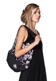 Freak Factory Printed Canvas Slouch Bag
