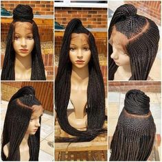 All styles of box braids to sublimate her hair afro On long box braids, everything is allowed! For fans of all kinds of buns, Afro braids in XXL bun bun work as well as the low glamorous bun Zoe Kravitz. Box Braids Hairstyles, Try On Hairstyles, School Hairstyles, Hairstyles 2018, Updo Hairstyle, Wedding Hairstyles, Box Braid Wig, Braids Wig, Braid Hair