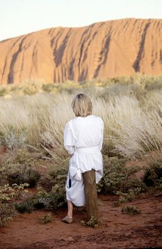 March 21, 1983: Princess Diana at Ayers Rock in Yulara, the Northern Territory in Australia.