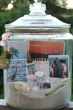 Memories in a jar. Idea for next time.