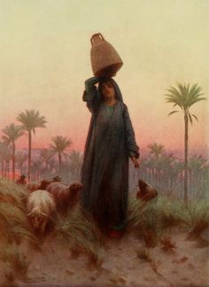 Kelly, Robert Talbot (1861-1934) - Egypt 1903, A daughter of Mizraim. #egypt
