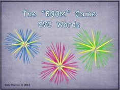 $8.60 Boom Game CVC Words