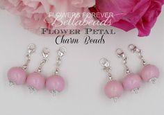 Flower Petal Jewelry, Small Bouquet Charm, 12mm