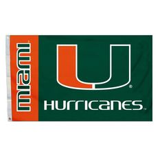 Miami Hurricanes 3'x5' Flag