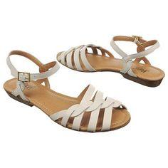 $68.99 Bass Clementine Sandals White Women`s Sandals class