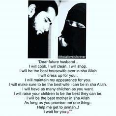 Wife to a Husband.