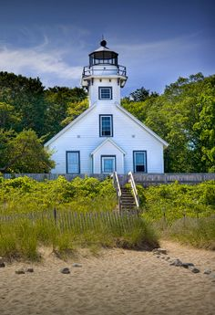 Old Mission Point Lighthouse in Grand Traverse by RandyNyhofPhotos, $30.00