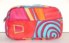 Celia Cosmetic bag in Red Abstract print by Pink Church. $16.00. 300 denier polyester -- dirt and water resistant. Generous interior space. Satin lining. Matching piping -- piping supports structure and shape of bag. Zippered closure. Fun and functional Cosmetic bag by Pink Church. The Abstract print in Red with matching trims makes this bag the perfect travel accessory for women everywhere. Made of 300 denier polyester, it is very durable as well as water and dirt ...